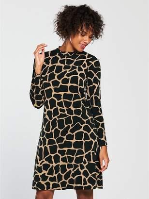 Wallis Swing Dress - Giraffe Print