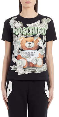 Moschino Money Bear Graphic Tee