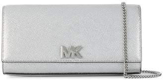 MICHAEL Michael Kors Mott metallic leather chain wallet