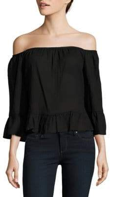 BCBGMAXAZRIA Britanee Off-The-Shoulder Neckline Top