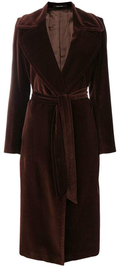 Tagliatore belted trench coat