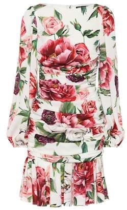 Dolce & Gabbana Floral-printed stretch-silk dress