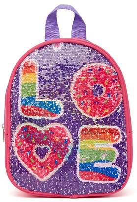 Confetti Love & Donut Flip Sequin Backpack