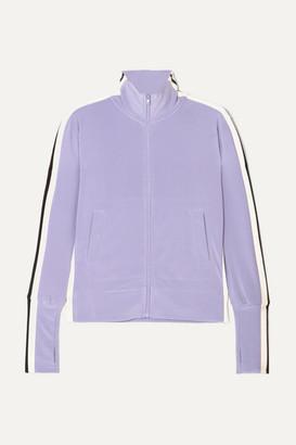 Norma Kamali Striped Stretch-jersey Track Jacket - Purple
