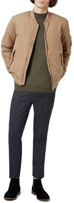 TOPMAN Padded Bomber Jacket $130 thestylecure.com