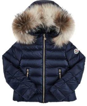Moncler Men's Solaire Down-Quilted Coat-BLUE $595 thestylecure.com