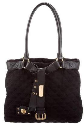 Marc Jacobs Leather-Trim Quilted Tote
