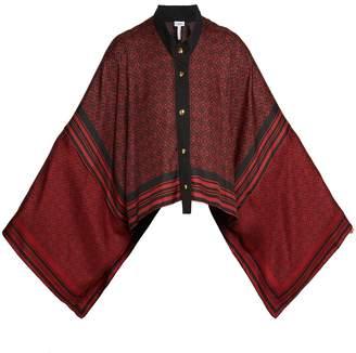 Loewe Anagram-print silk scarf jacket