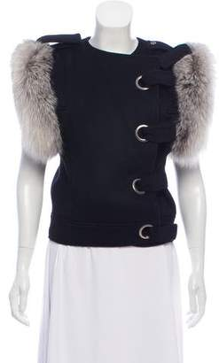 Thomas Wylde Fur-Trimmed Asymmetrical Vest