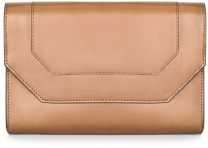BCBGMAXAZRIA Metallic Envelope Clutch