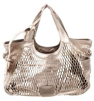 Jimmy Choo Woven Leather Hobo