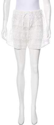Milly Open Knit Mini Shorts w/ Tags