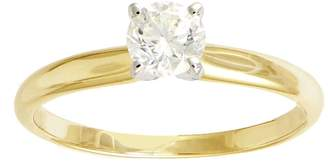 Affinity Diamond Jewelry Diamond Solitaire Ring, 1/2cttw, 14K Yellow Gold, by Affinity