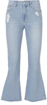 Sjyp Ribbon Crop Flare Jeans