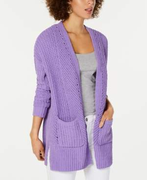 Style&Co. Style & Co Chenille Open-Front Cardigan, Created for Macy's