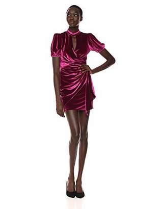 Parker Women's Artie Short Sleeve High Neck Velvet Mini Dress