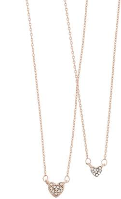 Lauren Conrad Simulated Crystal Heart Necklace Set