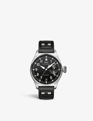 IWC IW500912 Pilot leather and stainless steel watch