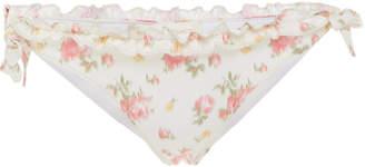 LoveShackFancy Elena Floral-Print Bikini Bottom Size: XS