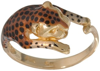 New York Gold Designs 14k Gold Leopard Ring