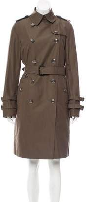 Burberry Fur-Trimmed Trench Coat