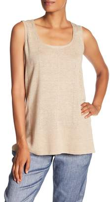 Lafayette 148 New York Chain Detailed Scoop Neck Tank