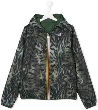 K Way Kids TEEN hooded printed jacket