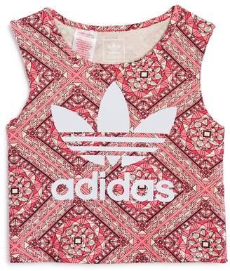 adidas Girls' Printed Logo Top