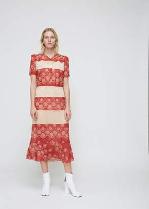 Maison Margiela Printed Pattern Dress