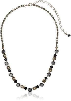 Sorrelli Onyx Dazzling Diamonds Line Necklace