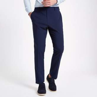 River Island Navy slim fit suit pants