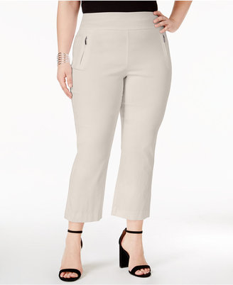 Inc International Concepts Plus Size Zip-Pocket Cropped Pants, Created for Macy's $69.50 thestylecure.com