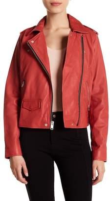 Andrew Marc Whitney 18.5 Leather Moto Jacket