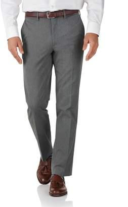 Charles Tyrwhitt Light Grey Slim Fit Stretch Cavalry Twill Pants Size W38 L34