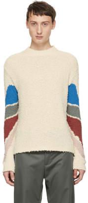 Kiko Kostadinov White Delva Sleeve Intarsia Knit Sweater