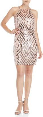 Vince Camuto Sequin High Neck Dress