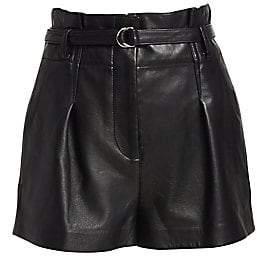 3.1 Phillip Lim Women's Origami Leather Shorts