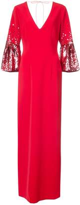 Sachin + Babi Byzas sequin sleeve column gown