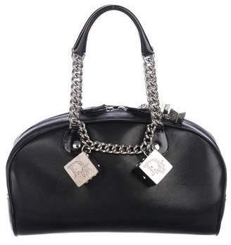 Christian Dior Leather Gambler Dice Bowler Bag