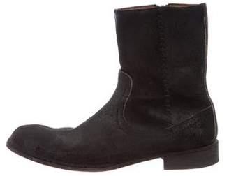 John Varvatos Distressed Suede Boots