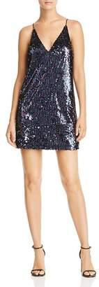 Aqua Sequined Slip Dress - 100% Exclusive