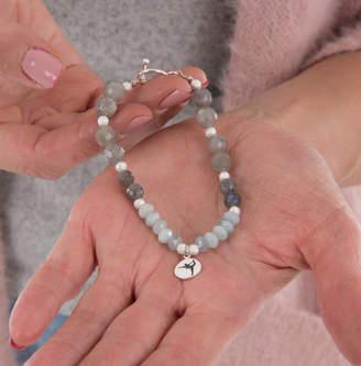Elizabeth Caroline London Yoga Warrior Gemstone Silver Bracelet