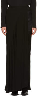 Haider Ackermann Black Panelled Wrap Skirt