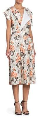 Victoria Beckham Floral Belted Wrap Dress