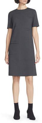Lafayette 148 New York Jacintha Punto Milano Sheath Dress w/ Tonal Stitching