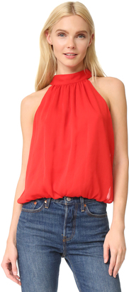 alice + olivia Maris Gathered Halter Top $195 thestylecure.com