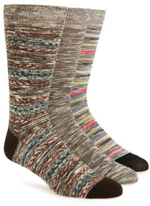 Men's Sperry Oasis Weave 3-Pack Socks $22 thestylecure.com