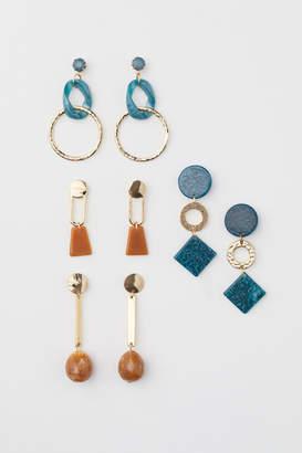 H&M 4 Pairs Earrings - Green