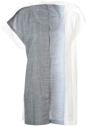 Issey Miyake 132 5. gradient short sleeve wrap shirt