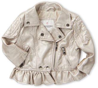 Urban Republic Infant Girls) Silver Metallic Faux Leather Jacket